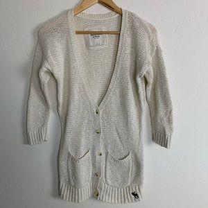 Abercrombie & Fitch Cotton Linen Blend Cardigan M